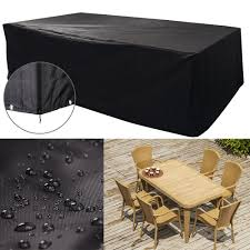 details about xl waterproof rectangular black garden patio furniture cover table bench outdoor