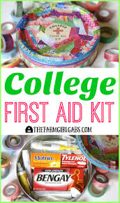 this college first aid kit will keep your college student prepared and healthy when they are