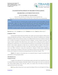 pdf the effects of multisensory method and cognitive skills training on perceptual performance and reading ability among dyslexic students in tehran iran