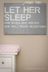 diy nursery wall decor ideas. diy nursery art \u2013 let her sleep diy wall decor ideas r