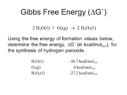 Free Energy Of Formation Chart Thermochemistry Gps 12 Heat The Transfer Of Energy From