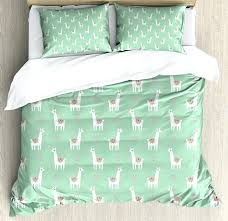 green quilt cover llama duvet cover set cute llama with candy cane hearts fun pattern on mint green background green duvet cover king size uk
