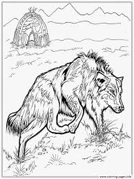 Realistic Wolf Coloring Pages Printable