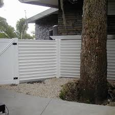 white horizontal wood fence. Commercial Louver Vinyl Semi Privacy Fence 3 White Horizontal Wood