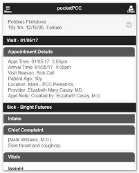 Patient Chart Review Example Review A Patients Chart In Pocketpcc Pcc Learn