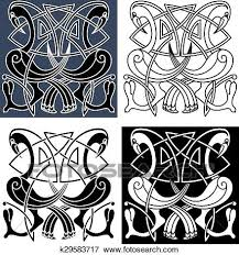 Celtic Pattern Mesmerizing Clip Art Of Heron Birds With Celtic Knot Patterns K48 Search