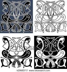 Celtic Pattern Mesmerizing Clip Art Of Heron Birds With Celtic Knot Patterns K48 Search