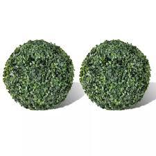 "OTVIAP <b>Boxwood Ball Artificial Leaf</b> Topiary Ball 10.6"" 2 pcs ..."