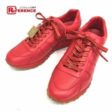 Authentic Louis Vuitton Louis Vuitton X Supreme Runaway Mens Shoes Shoes 17 Aw Louis Vuitton Supreme Run Away Sneaker Sneakers Red Leather 1a3fc6