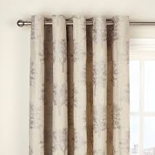 Lined Bedroom Curtains Buy John Lewis Botanical Field Lined Pencil Pleat Curtains Mocha