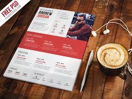 Free Psd Creative Resume Cv Template Psd On Behance
