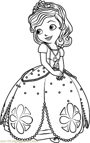 Sofia Coloring Pages Scbu Princess Sofia Coloring Page Free Sofia