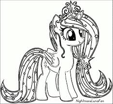 My Little Pony Rarity Coloring Pages For Kids Printable Free In My