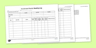 log sheet log sheet to support the teaching on accelerated reader