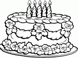 Small Picture Coloring Page Birthday Cake Coloring Home Coloring Coloring Pages