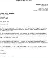 Sample Cover Letter For Teller Supervisor Prepasaintdenis Com