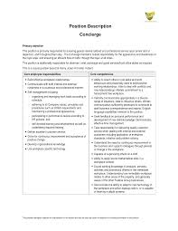 Brilliant Ideas Of Concierge Resume Objective Sample Epic