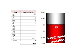 Goal Chart Template 30 Excel Thermometer Chart Template Andaluzseattle