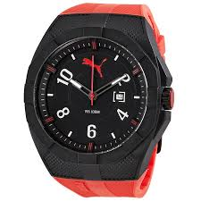 puma iconic red black dial men s red rubber sports watch puma iconic red black dial men s red rubber sports watch pu103501005u