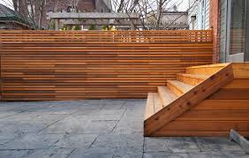 Image of: Modern Wood Fence Design