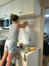 how to lay tile in kitchen best subway tile kitchen ideas on with installing should you