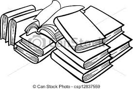 450x302 stack of books clipart black and white clipart panda