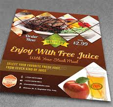 Restarunt Brochure Stunning How To Make A Restaurant Flyer Printaholic