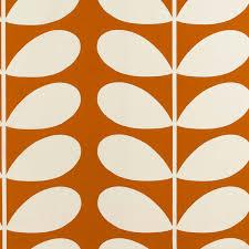 orla kiely giant stem fabric orange at dotmaison