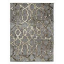urban collection faded grey 5 ft x 7 ft imperial trellis area rug