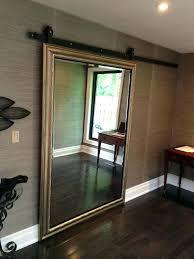 sliding mirror barn doors closet door the zen on hardware