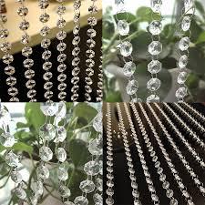 diy clear acrylic crystal bead garland chandelier hanging wedding supplies decor