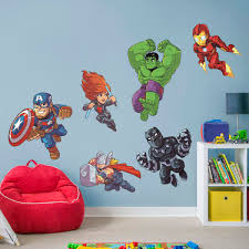 avengers assemble marvel super hero adventures collection giant officially licensed removable wall decals fathead