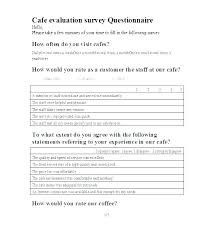 Survey Forms In Word Custom Coffee Survey Template Santocon