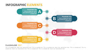 Vertical Timeline Powerpoint 5 Steps Vertical Banners Timeline Template