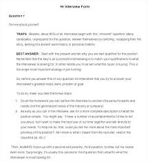 Words For Employee Evaluation Interview Feedback Template Class Evaluation Form Word