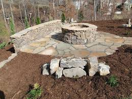 stone patio with fire pit lovely stone outdoor fireplaces fire pits stone chimneys