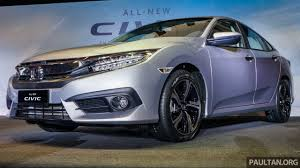 new car release 2016 malaysiaIndiabound 2016 Honda Civic launched in Malaysia