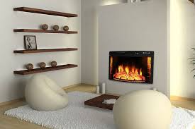 there is no actual fire only various forms of fake fire that give off an authentic fireplace aesthetic