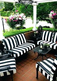 outdoor furniture pads black and white striped