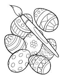 Easter Eggs Coloring Staranovaljainfo