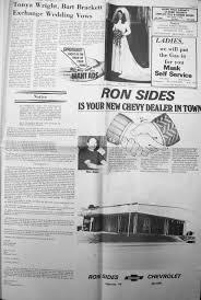 index of s from the bridgeport index newspaper brackett william bart tonya ann wright wedding 1975 09 04 pg15