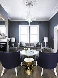 The wainscoting adds another dimension to the look add in some natural colors like grays and browns, you have a very balanced room. Blue And Gray Living Room Contemporary Living Room Greg Natale