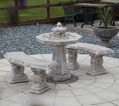 japanese stone benches table patio set garden furniture random stone table and bench set with stone patio tables