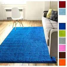 blue rug runner dark solid retro modern 2 x peacock blue rug runner