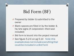 bid form example bidding requirements act 380 objective provide an overview of the