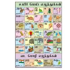 Tamil Alphabet Chart India Tamil Alphabet Chart