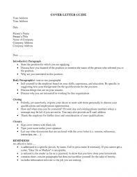 Cover Letter To Unknown How To Address A Cover Letter Unknown Person