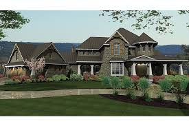 Home Plan HOMEPW73229  3349 Square Foot 4 Bedroom 4 Bathroom  French Country Ranch Style House Plans