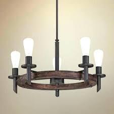 wood rectangular chandelier rustic 6 light metal