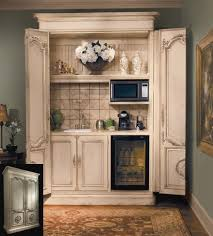 turn an armoire into a coffee bar drink station wine bar etc